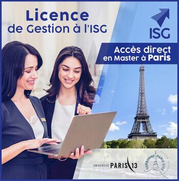 En 2020, tous les diplômés de la licence « Economie-Gestion » acceptés en Master à Paris